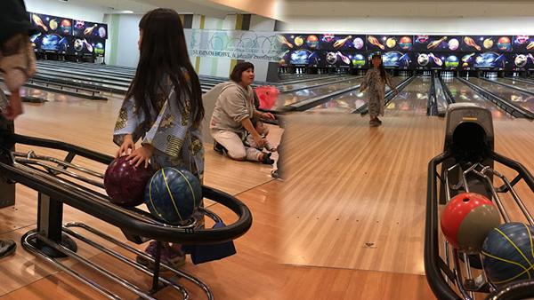 杉乃井ホテルでボーリング