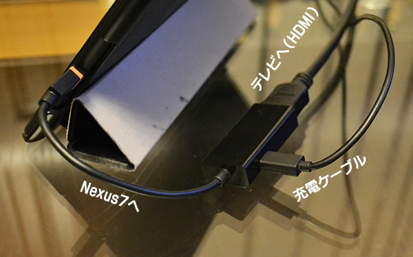 Nexus7とI変換アダプタを接続