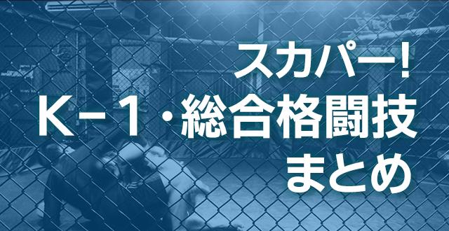 【スカパー】K-1・総合格闘技まとめ