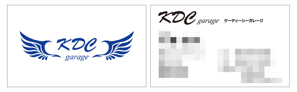 ラクスルとプリスタに注文した名刺のデザイン