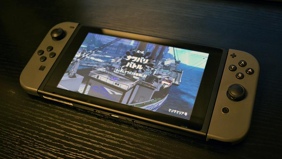 ニンテンドースイッチの携帯モードでスプラトゥーン2をプレイ