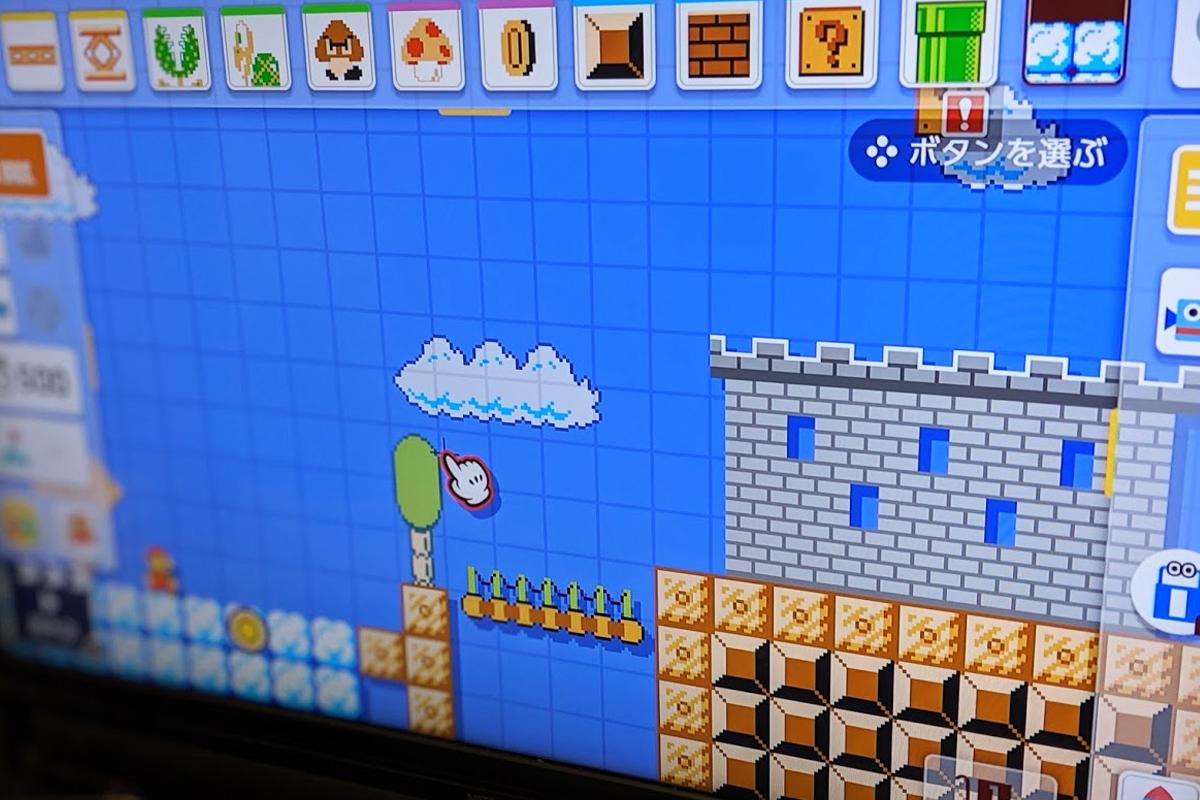 スーパーマリオメーカー2のコース作成画面