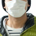 マスク姿のおじさん