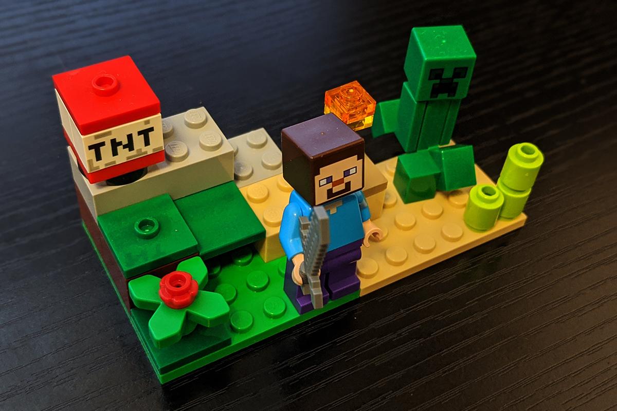 マイクラ版レゴ(30393)スティーブとクリーパー