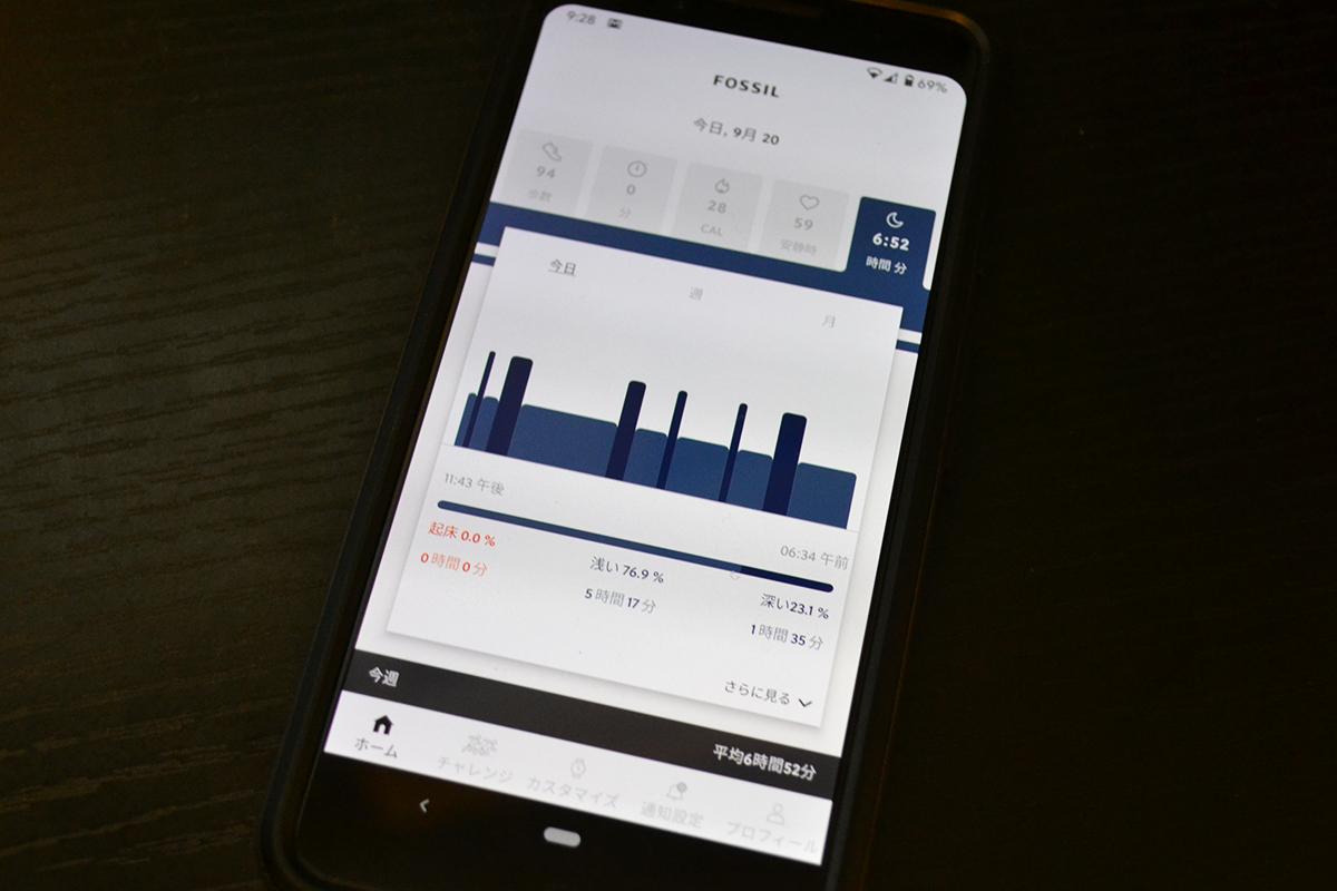 フォッシル専用アプリ