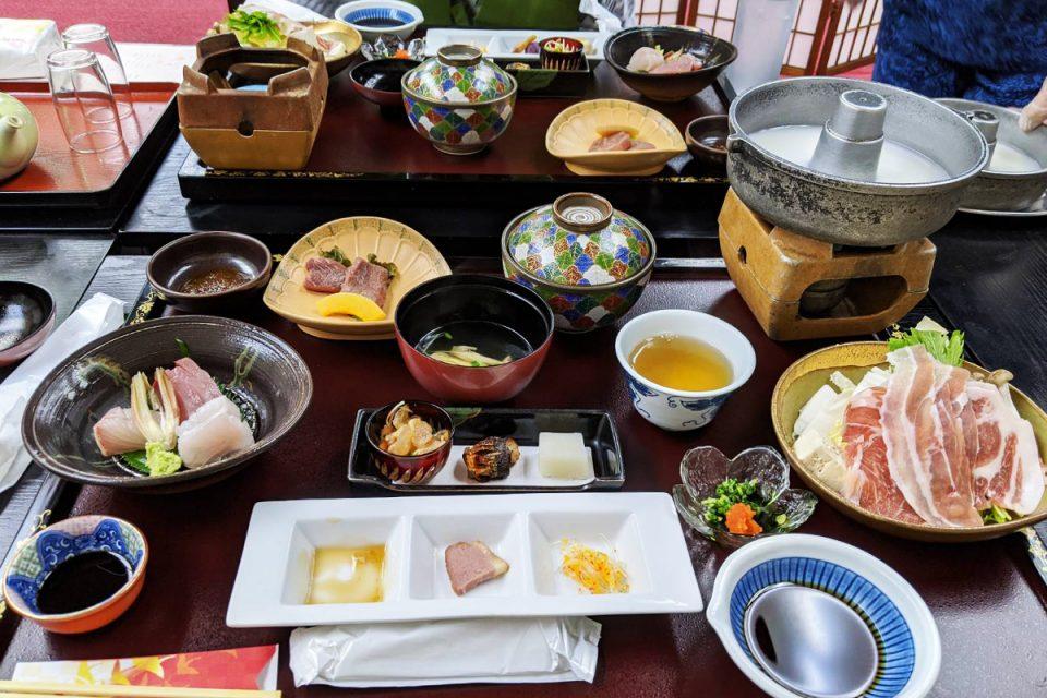 牧水荘の夕食
