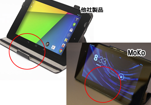 新Nexus7用MoKoカバーの前方
