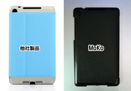 新Nexus7用MoKoカバーの背面