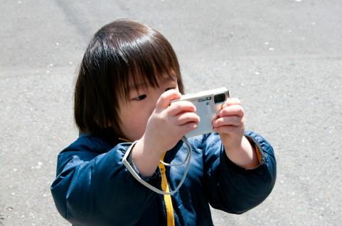 売れない子供の写真