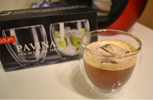 ボダムのグラスで飲むアイスコーヒー