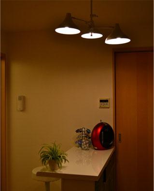 ニトリ バーカウンターに似合う照明