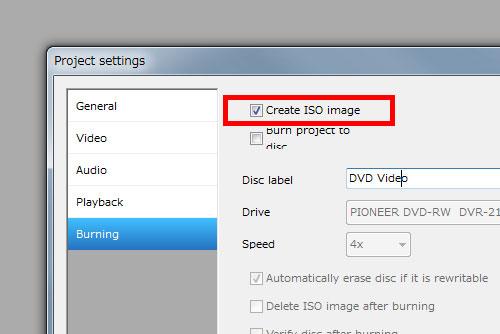dvdflick Create ISO image