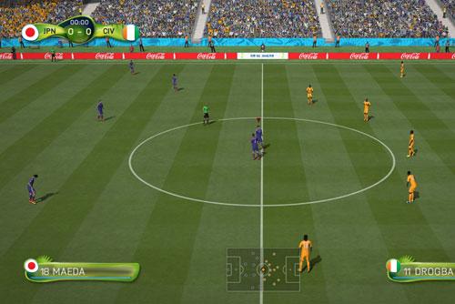 FIFA14 対戦画面