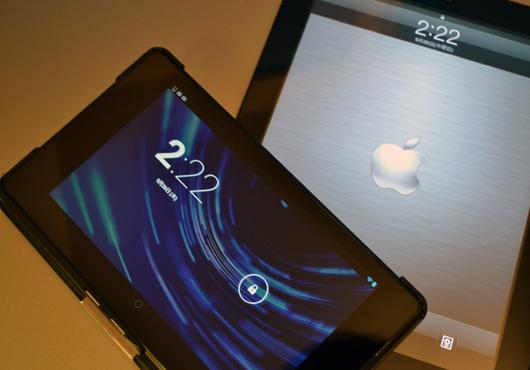 New Nexus7とiPad2