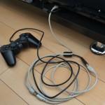 PS3のコントローラーを延長して充電