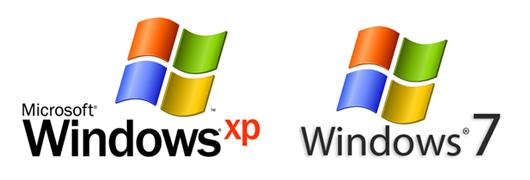 Windows7とWindows XP